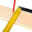 Stock Photo: Marking wooden board