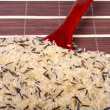 Mixture of purified and wild rice — Stock Photo