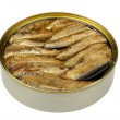 Sprats in a tin — Stock Photo