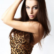 Young woman brunette portrait. - Lizenzfreies Foto