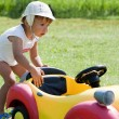 Little boy with the toy car. — Stock Photo #6452406