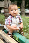 The little boy on a playground. — Stock Photo
