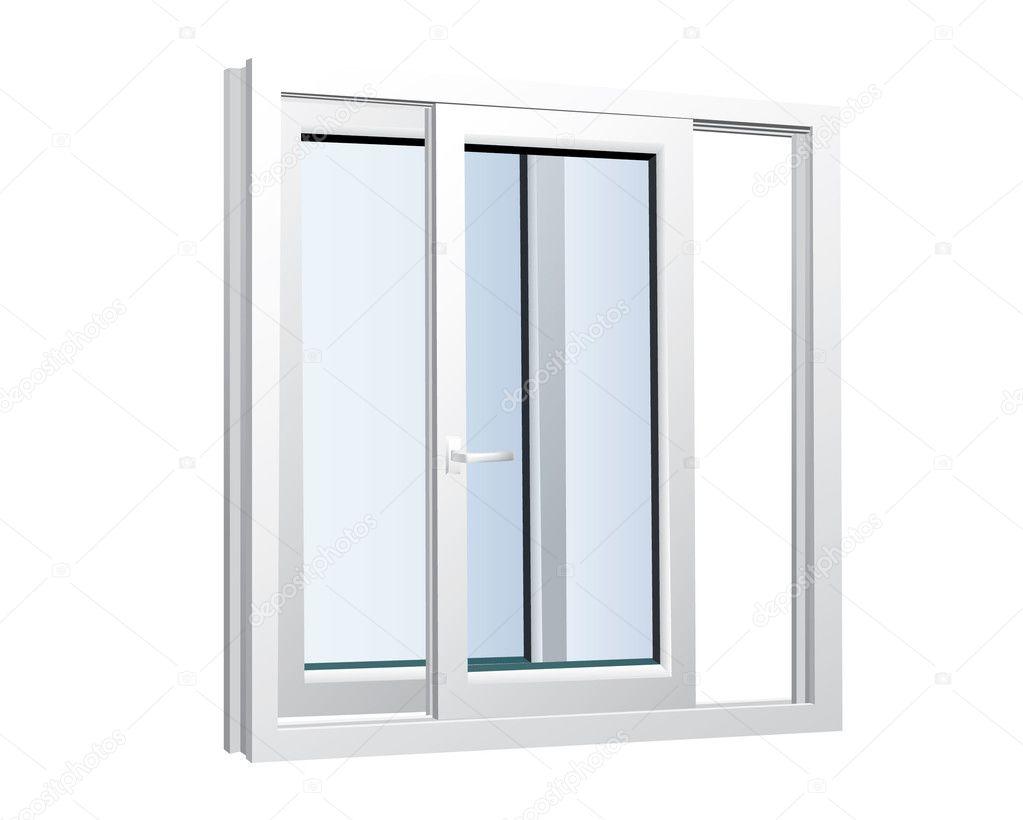 Kunststoff gl ser fenster stockvektor cabaxa 5796478 for Kunststoff schiebefenster