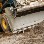 Skid steer loader works — Stock Photo #5417109
