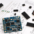 Stock Photo: Micro electronics element and layout