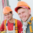 Two builder facade painters — Stock Photo
