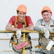 Stock Photo: Happy builder facade painters