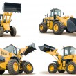 Set of wheel loaders isolated — Stock Photo #5418392