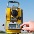 Stock Photo: Survey equipment theodolite