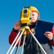 Royalty-Free Stock Photo: Surveyor theodolite works