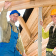Stock Photo: Group of roofers