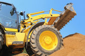 Loader at construction work — Stock Photo