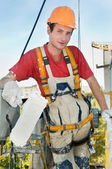 Builder facade painter — Stock Photo