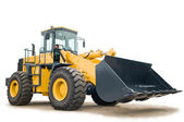 Wheel loader excavator isolated — Stock Photo