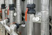 燃气锅炉室设备 — 图库照片
