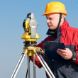 Foto Stock: Surveyor at work
