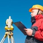 Surveyor theodolite worker — Stock Photo #5421180