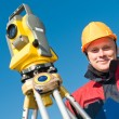Surveyor theodolite worker — Stock Photo #5421183