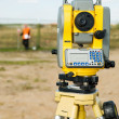 Theodolite on tripod - Stockfoto