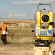 Stock Photo: Theodolite on tripod