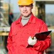 Builder inspector worker — Stock Photo
