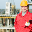 Stock Photo: Smiling builder inspector worker