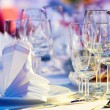 Close-up catering table set - Stock Photo