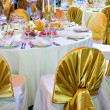 Catering service table decoration - Foto Stock