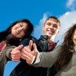 Stock Photo: Group of smiling young students outdoors