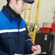 Heating engineer in boiler room — Stock Photo #5427883