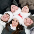 Happy winter youth — Stock Photo
