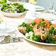 Stock Photo: Catering table set decoration