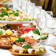 Catering food table set decoration — Stock Photo #5428025