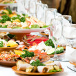 Catering food table set decoration - Stock Photo