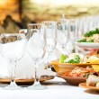 Catering food table set decoration — Stock Photo #5428028