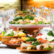 Catering food table set decoration — Stock Photo #5428029