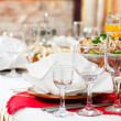 Catering food table set decoration — Foto Stock