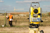 Theodolite on tripod — Stock Photo