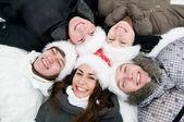 Happy winter youth — Stock Photo