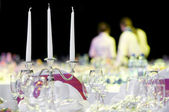 Catering service table decoration — Stock Photo