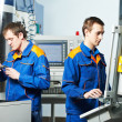 Two workers at tool workshop — Stock Photo
