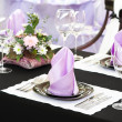 Close-up catering table set — Stock Photo #5457011