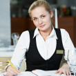 Restaurant manager woman at work place — Stock Photo #5457053