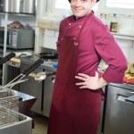 szef kuchni z gałką — Zdjęcie stockowe