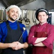 Chefs with scoop — Stockfoto