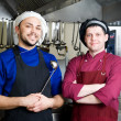 Chefs with scoop — Foto Stock