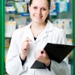 Pharmacy chemist woman in drugstore — Stock Photo #5457377