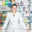 Pharmacy chemist woman in drugstore — Foto de Stock
