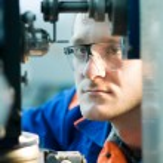 Mehanician engineer at work — Stock Photo #5457401