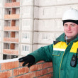 Smiling builder worker foreman — Stock Photo